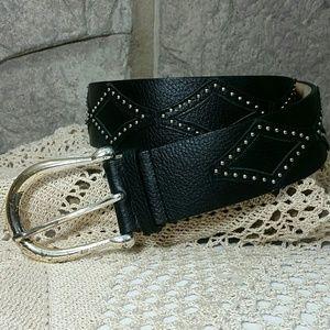 Sale! Michael Kors Leather Diamond Studded Belt